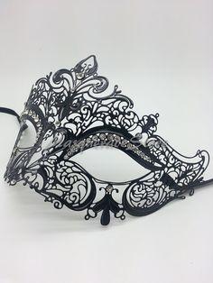 Luxury Black with Sparkling Rhinestones by MasqueradeStore on Etsy, $19.95