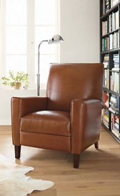 His Chair-Husband's only furniture request: Harper Tall Back Leather Recliner -  Room & Board