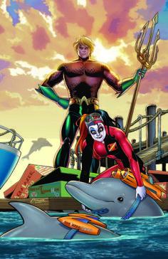 Aquaman #39-DC Comics February 2015 Theme Month Variant Covers Revealed - Harley Quinn - Comic Vine