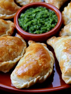 Mushroom Cheese Empanadas -- I'm making mine without cheese, I'm using refried beans, and probably almond flour