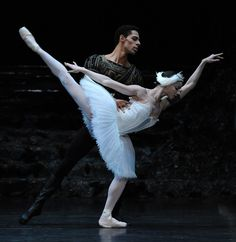 Celine Gittens and Tyrone Singleton in Swan Lake. Birmingham Royal Ballet, London, October 2015. © Roy Smiljanic. Small-framed and as delicate as swansdown, Gittens flew onto the stage with light, lively leaps that sent Siegfried scampering out of her way. As Odette, she offered beautiful posings, lovely footwork and strong jumps, but she is not a lyrical ballerina – yet. Her movements, while clean and tidy are performed with textbook precision, yet without what the Russians call 'soul'.