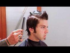 Toni & Guy Men's Haircut Tutorial   Faux Hawk - behindthechair.com
