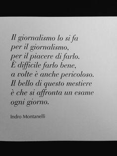 Per chi ha davvero passione @GGiornalisti #Montanelli #giornalismo
