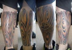 Eugene Bouman tattoo wood skull