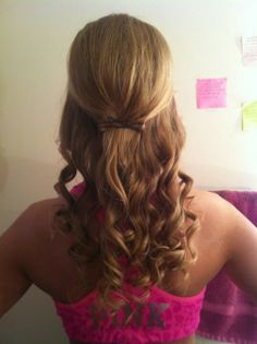 Prom hair. With looser fuller curls. Not so ringlet-y