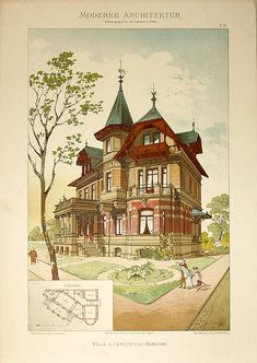 Альбом хромолитографий. Lambert & Stahl, Architekten In Stuttgart. 1890 - 1891
