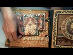 Monkeydreamz: Tales of a Paper Addict: Graphic45 Steampunk Debutante Mini-Album Video