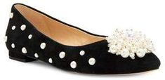 Katy Perry Lady Suede Embellished Flats