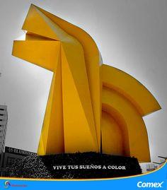 Una obra que siempre ha provocado polémica, ¿eres de los que les gusta este monumento o de los que no? Comenta : )  #ColoresDeMiMéxico