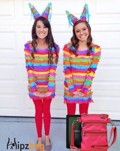 Pinata themed Halloween costume paired with the Hot Pink Utility Hipzbag.