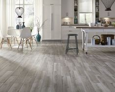 40 Awesome Wood Tile Floor Inspiration for Kitchen
