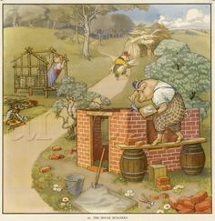 Three little pigs! I remember the story well.