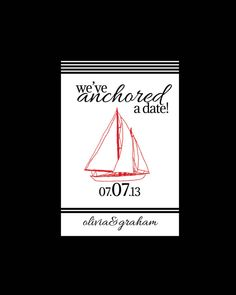 Nautical Anchor Wedding Paper Collection DIY Printable Custom & Personalized
