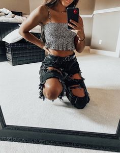 25 cute teen outfit ideas to try this season - 3 - Fashion Haul Trendy Summer Outfits, Cute Teen Outfits, Cute Comfy Outfits, Teen Fashion Outfits, Mode Outfits, Retro Outfits, Look Fashion, Outfits For Teens, Stylish Outfits