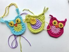 Crochet Applique Owl - Video Tutorial ❥ 4U // hf, thanks so for sharing this xox -love Elissa designs