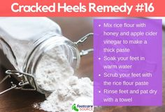 30 Amazing Home Remedies for Dry Cracked Feet: Rice Flour Paste for Cracked Heels Dry Cracked Heels, Cracked Feet, Cocoa Butter, Shea Butter, Heel Fissures, Cracked Heel Remedies, Soft Feet, Natural Moisturizer, Tea Tree Oil