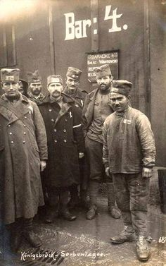 Konigsbruck - Serbian P.O.W.s. in Germany, near Berlin , during the First World War