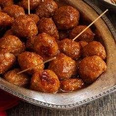 Brown Sugar-Glazed Meatballs ... from Taste of Home