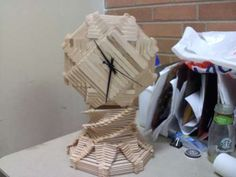 DIY Popsicle stick clock  Instructable Tutorial