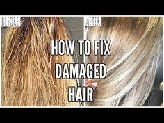 Hair Care Routine | How to Repair Damaged Hair & Keep Blonde Hair Healthy - YouTube