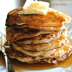 Our family's favorite pancake recipe: Oatmeal Cookie Pancakes @Liting Mitchell Mitchell Sweets