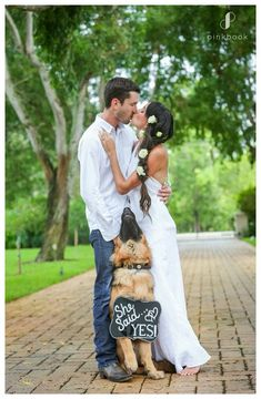 She Said Yes Dog Sign - My Humans are Getting Married