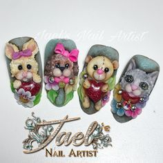 Resultado de imagen para flat 3d nail art