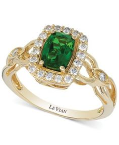 Le Vian Chrome Diopside (3/4 ct. t.w.) and Diamond (1/3 ct. t.w.) Ring - Rings - Jewelry & Watches - Macy's