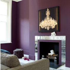 Aubergine living room - walls in Logan Berry, Sanderson