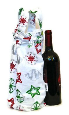 Wine Tote, Wine Gift Bag, Wine Tote Bag, Hostess Gift, Wine Gifts, Holiday Wine tote, Wine Bag, Wine Bag Tote,  Wine Tote Bag, Gift Bag by HandmadebyNancie on Etsy