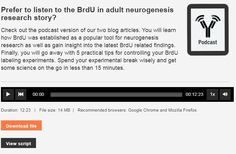 The first of a two part series describing how BrdU revolutionized the field of neurogenesis. Research, Insight, Learning, Blog, Search, Studying, Blogging, Teaching, Science Inquiry