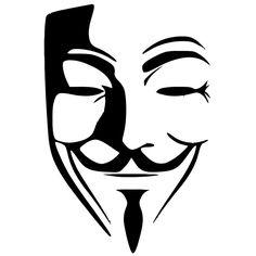 ホット販売匿名マスクセクシーな男ステッカー車の窓トラックバンパーオートsuvドアラップトップカヤックアート壁などビニールデカール8色