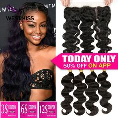 7A Full Frontal Lace Closure 13x4 With Bundles 3/4pcs Virgin Peruvian Body Wave With Closure Lace Frontal Closure With Bundles