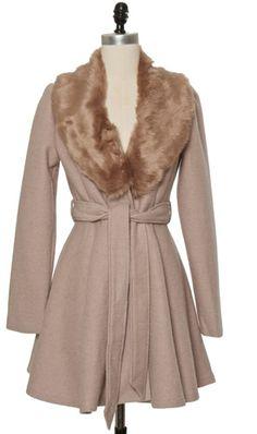 Trendy and Cute tops - Chloe Loves Charlie - Faux Fur Belted Jacket - chloelovescharlie.com | $67.00