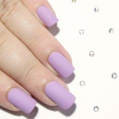 Lilac Matte - Short Square - - Sarah's Sparkles Nails - 1