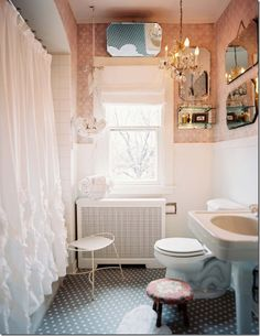 Guest bath idea?  Mirrors.