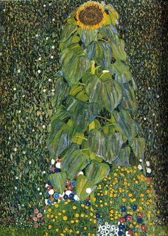 Gustav Klimt: Il girasole (1906r, 1907) olio su tela 110x110. Stile: Art Nouveau. Periodo: Fase d'oro