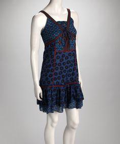 Take a look at this Indigo Ruffle Dress I bought at zulily today!