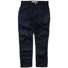 White Mountaineering Cotton Serge Triple Needle Puckering Pants Navy