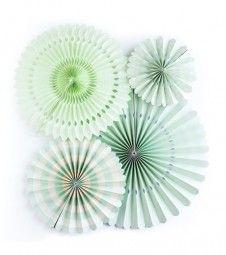 Papierfächer-Set - mint - 4-teilig