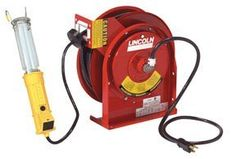 Lincoln Lubrication (LIN91034) Heavy Duty Power Cord & Light Reel by Lincoln. $335.52. Cord is cold weather compatible – grease, oil and water resistant  Available with fluorescent light, with and without power tap, single outlets, dual GFCI outlets  Spring retractable with latch  Engineered for heavy-duty, industrial use  Adjustable cord stop  Wall, ceiling or bench mount  Perfect for vehicle maintenance and industrial environments  Cord Type/Length: SJTOW / 45 ft.  Cord Th...