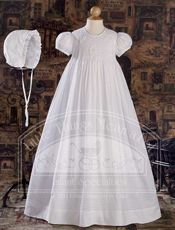 """32"""" Hand Smocked Cotton Gown"""