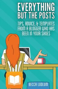Becca's book is awesome! A must  read for all bloggers new and old.