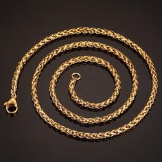 #AdoreWe #RoseWholesale Rosewholesale Men's Gold Plated Snake Chain Necklace - AdoreWe.com