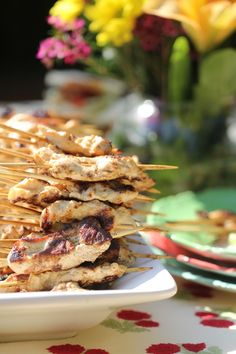 Wild Turkey Skewers with Ginger Chili Sauce