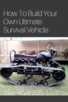 """How To Build Your Own Ultimate Survival Vehicle - Well, I thought I had seen everything in regards to DIY off road vehicles. I was mistaken. This puppy I am calling the """"bike tank"""" is a tracked vehicle that is powerful and light enough to get you to your bug out location. Image Credit: Aceman307 via YouTube"""