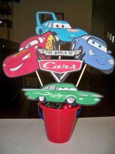 DISNEY PIXAR CARS BIRTHDAY PARTY CENTERPIECE | KelleyCreations - Children's on ArtFire
