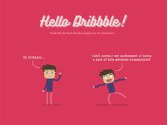 Hello Dribbble! by Sudipto Mondal #Design Popular #Dribbble #shots