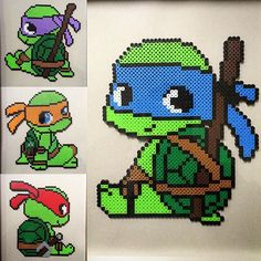 TMNT perler beads by  perlerking604                                                                                                                                                     More