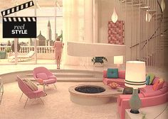 great vintage living room!